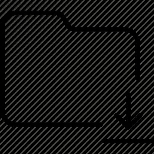document, download, file, folder, internet icon