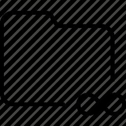 document, eternity, file, folder, infinity, unlimited icon