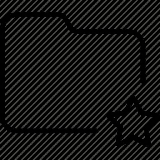 bookmark, document, favorite, file, folder, star icon