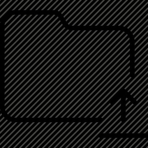 document, file, folder, internet, upload icon