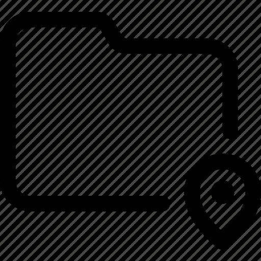 document, file, folder, location, map, pin icon