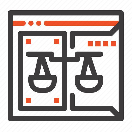 business, copyright, court, digital, law icon
