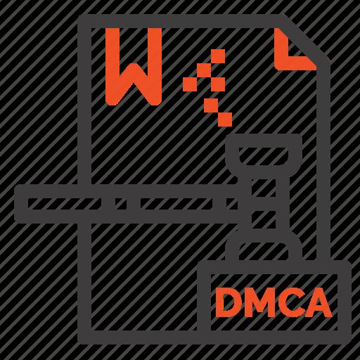 business, copyright, digital, dmca, file icon