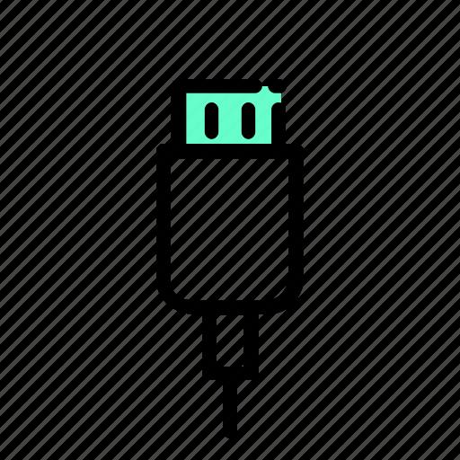 data, digital, usb icon