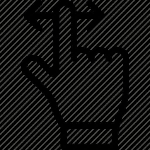 click, cursor, finger, hand gesture, swipe icon