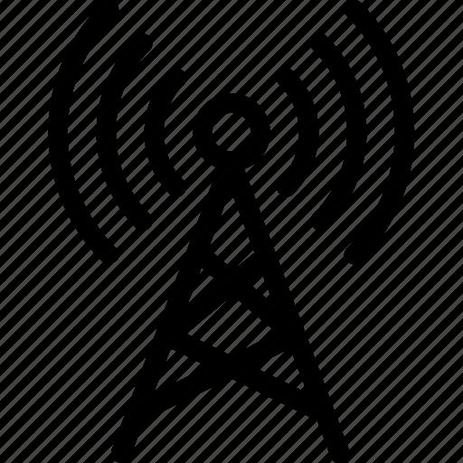 signals, wifi antenna, wifi tower, wireless, wireless network icon