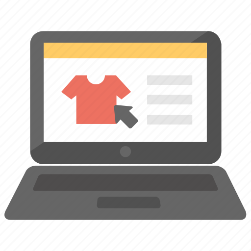 buy clothes online, ecommerce, online shopping, shopping website, webshop icon