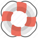 life buoy, life ring, lifeguard, lifesaver, survival icon