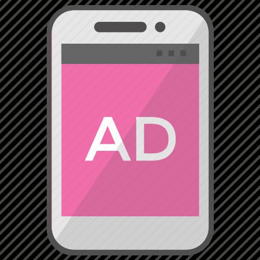 Digital advertising, mobile advertising, mobile marketing, mobile media, viral marketing icon - Download on Iconfinder