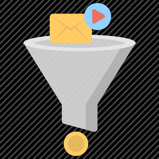 digital marketing, marketing funnel, marketing strategy, purchase funnel, step by step marketing icon