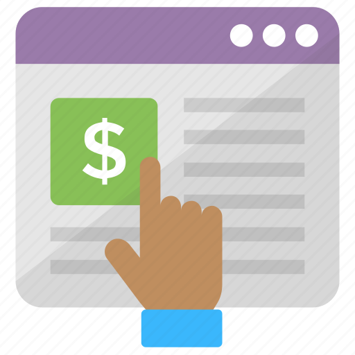 Cost per impression, internet advertising, pay per click, ppc, search engine advertising icon - Download on Iconfinder
