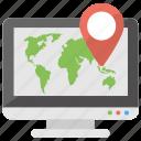 navigation app, navigation software, online gps service, online map, online navigation icon