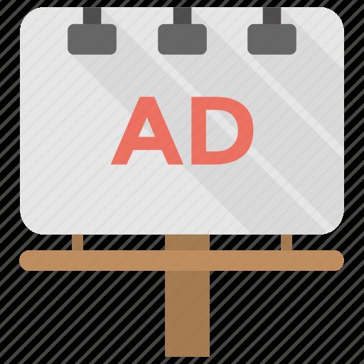 Ad billboard, digital billboards, outdoor advertising, print media, signboard icon - Download on Iconfinder