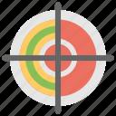 bullseye, dartboard, goal, sniper target, target icon