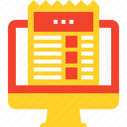 business, computer, news, newsletter, newspaper, press, release icon