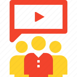 communication, group, marketing, people, promotion, video, viral icon