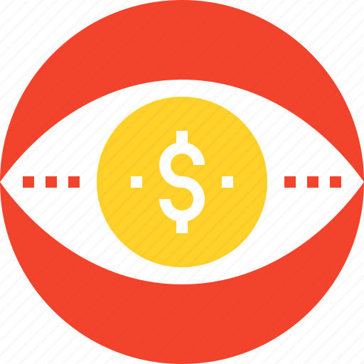 conversion, eye, marketing, money, research, seo, vision icon