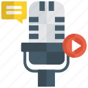 audio clip, audio message, audio music, audio recording, voice message icon