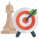 business strategy, goal, objective, strategic target, target icon