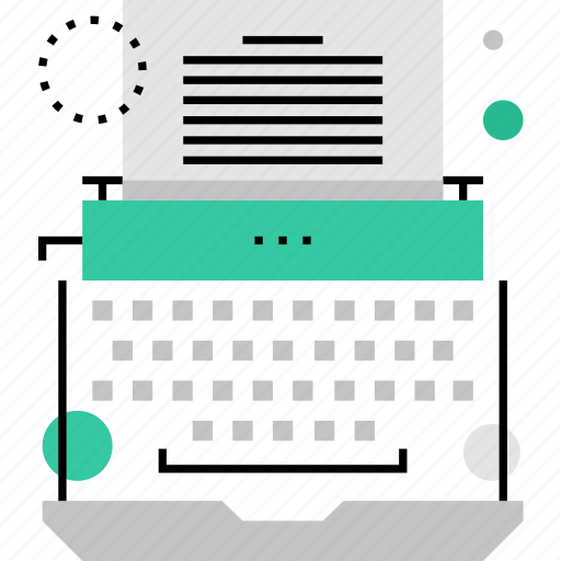 author, automation, computer, literature, story, typewriter, writing icon