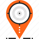 gps, location, map, marker, navigation, pointer, target icon