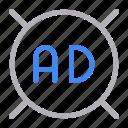 ad, advertisement, banner, digital, marketing icon