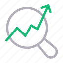 analysis, case, growth, search, study icon
