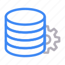 cogwheel, database, server, setting, storage