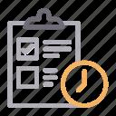 checklist, clipboard, deadline, marketing, tasklist icon
