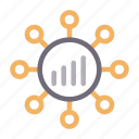 chart, connection, graph, marketing, network icon