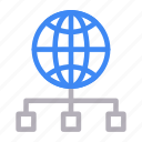 connection, global, internet, network, sharing icon