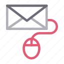 email, inbox, message, mouse, online icon
