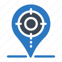 focus, location, map, pin, target icon