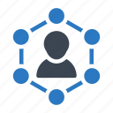 account, connection, network, profile, sharing icon