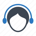 avatar, headphone, services, support, users icon