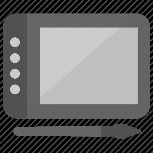 Digital artboard, digital graphics tablet, digitizer, drawing tablet, pen tablet icon - Download on Iconfinder