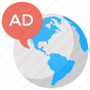 global advertising, international marketing, online marketing, outbound marketing, worldwide advertising