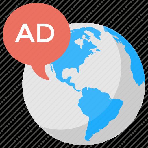 global advertising, international marketing, online marketing, outbound marketing, worldwide advertising icon