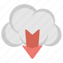 cloud computing, cloud downloading, cloud network, cloud storage, data transfer icon