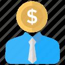 banker, investor, lender, sponsor, stockholder icon