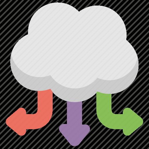 Cloud computing network, cloud hosting server, cloud network, cloud server, cloud web hosting icon - Download on Iconfinder
