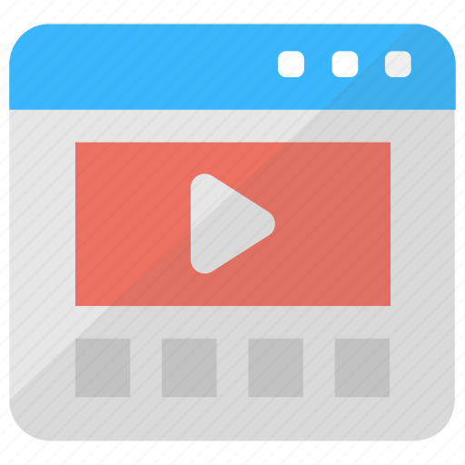 Internet video, online media, online video marketing, video marketing, viral video icon - Download on Iconfinder