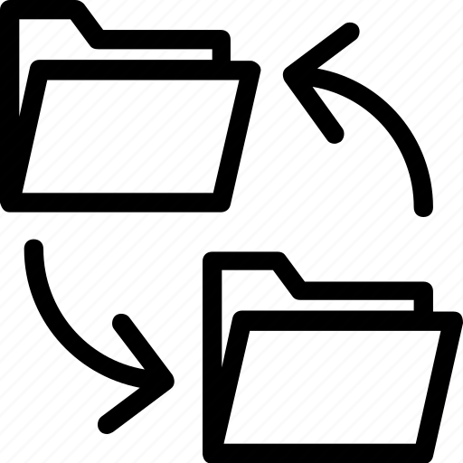 archives, copy folder, data share, folder, folder sharing icon