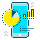 analytics, customer, data, mobile, report, statistics, survey icon