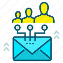 communication, conversation, email, focus, group, human, people icon