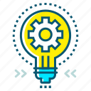 bulb, creative, goal, idea, marketing, success, target icon