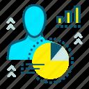 feedback, people, customer intelligence, marketing, report, customer data icon