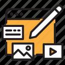 content, interface, website