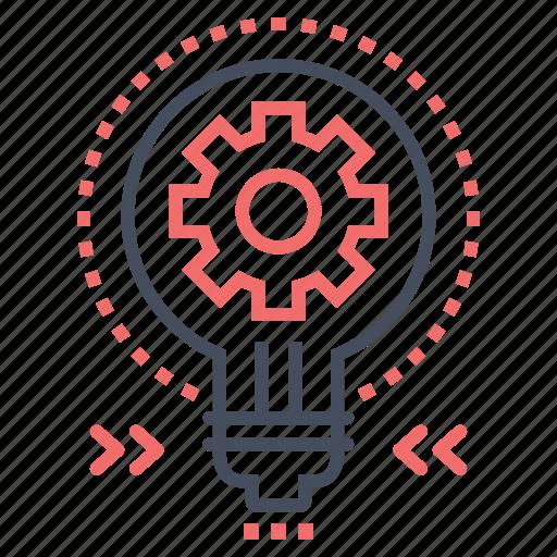 bulb, creative, goal, idea, marketing, success, target icon