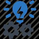 creative idea, creative campaign, idea development icon